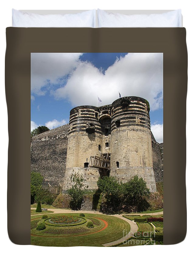 Castle Duvet Cover featuring the photograph Chateau D'angers - France by Christiane Schulze Art And Photography