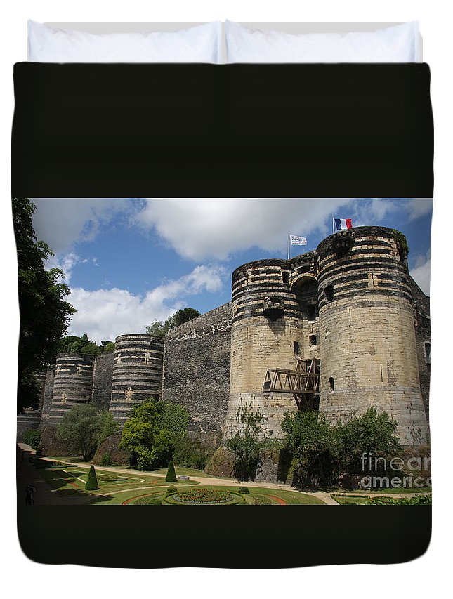 Castle Duvet Cover featuring the photograph Chateau D'angers - The Keep by Christiane Schulze Art And Photography