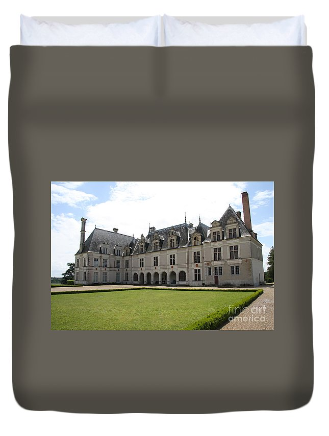 Palace Duvet Cover featuring the photograph Chateau De Beauregard Loire Valley by Christiane Schulze Art And Photography