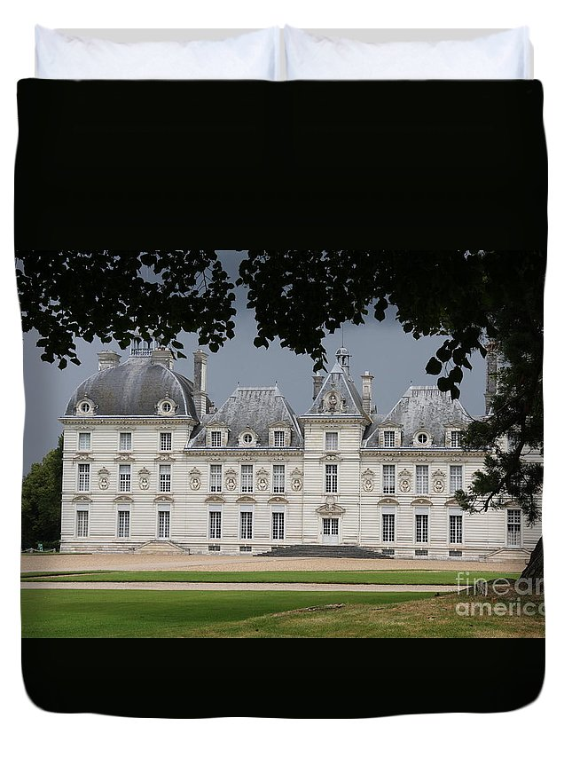 Palace Duvet Cover featuring the photograph Chateau De Cheverny - France by Christiane Schulze Art And Photography