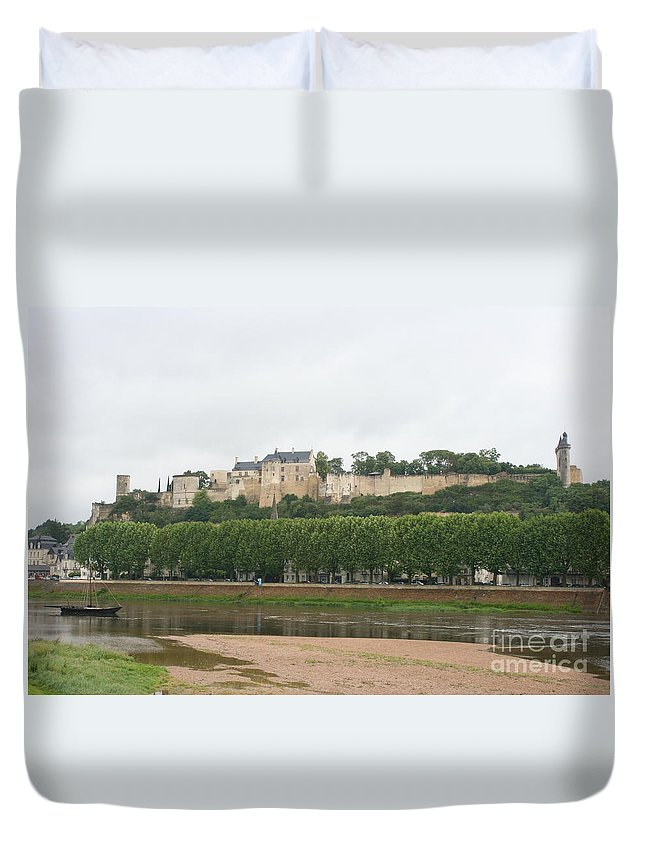 Castle Duvet Cover featuring the photograph Chateau De Chinon - France by Christiane Schulze Art And Photography