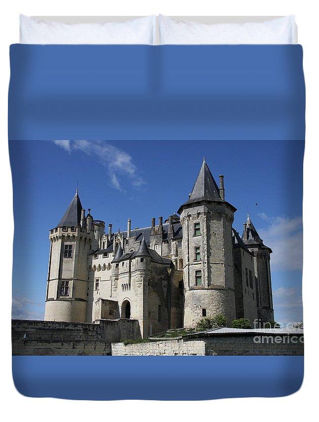 Castle Duvet Cover featuring the photograph Chateau De Saumur by Christiane Schulze Art And Photography