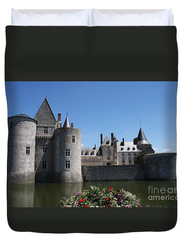 Castle Duvet Cover featuring the photograph Chateau De Sully-sur-loire View by Christiane Schulze Art And Photography