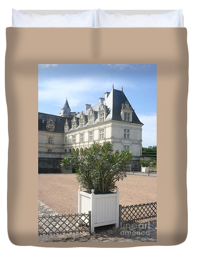Palace Duvet Cover featuring the photograph Chateau Villandry View by Christiane Schulze Art And Photography