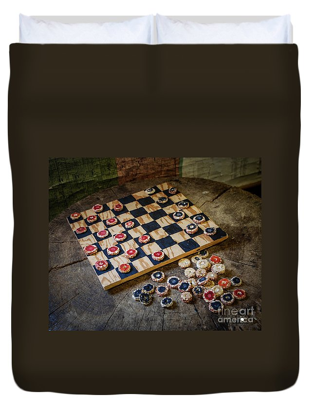 Checkers Duvet Cover featuring the photograph Checkers by Grace Grogan