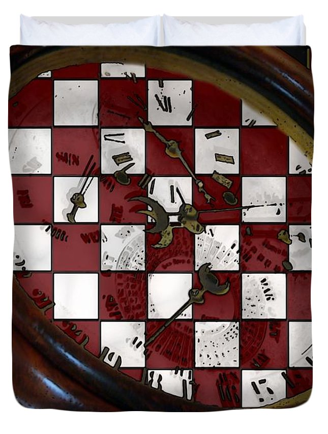 Antique Duvet Cover featuring the painting Checkmate by RC DeWinter