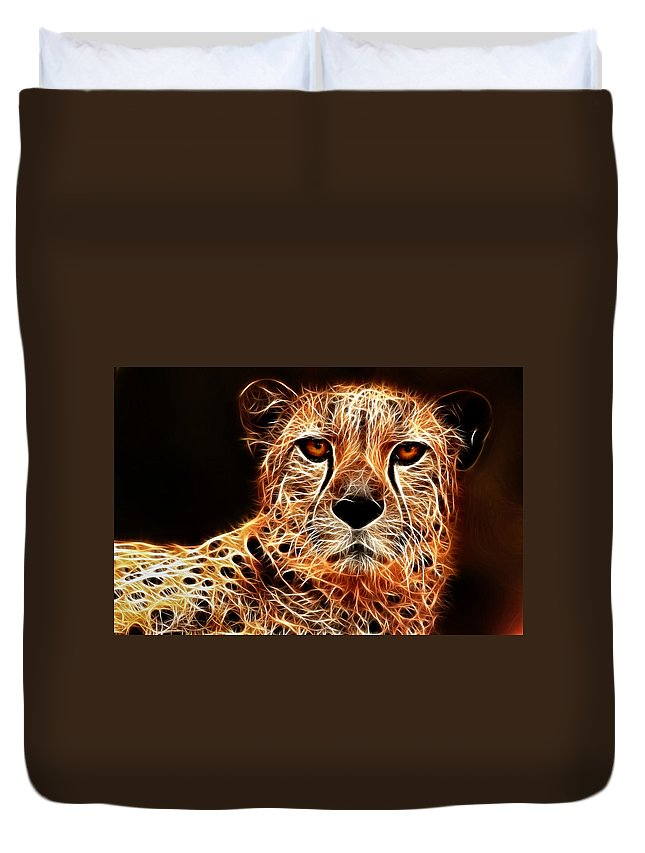Cheetah Duvet Cover featuring the photograph Cheetah Artwork by Don Johnson