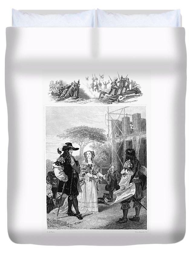 1682 Duvet Cover featuring the photograph Chelsea Hospital, 1682 by Granger