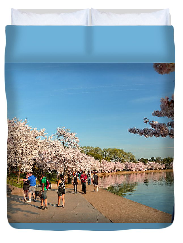 Architectural Duvet Cover featuring the photograph Cherry Blossoms 2013 - 020 by Metro DC Photography