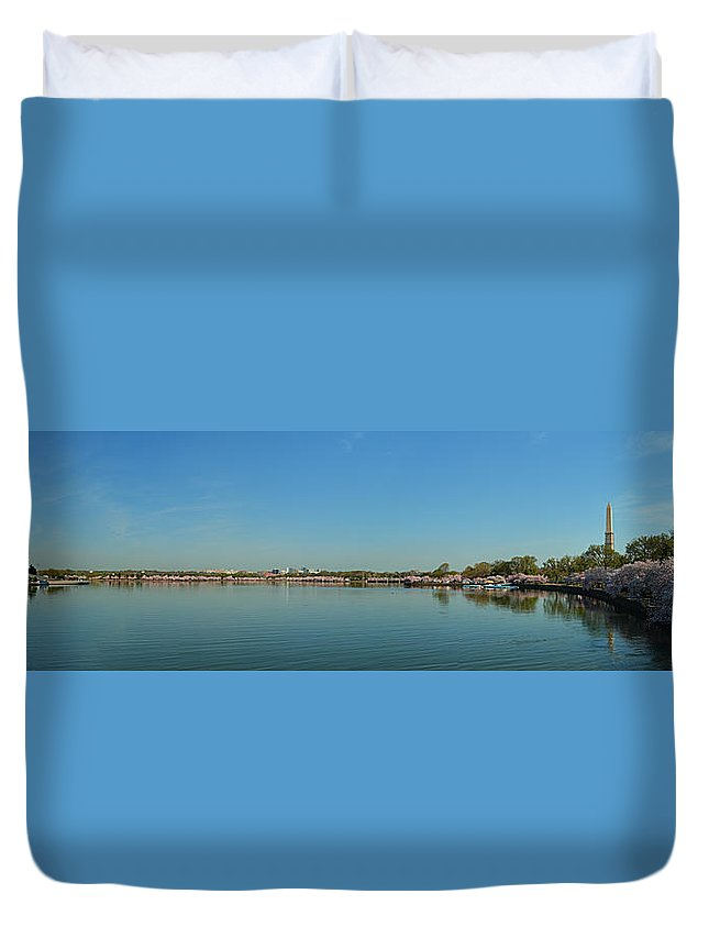 Architectural Duvet Cover featuring the photograph Cherry Blossoms 2013 - 062 by Metro DC Photography