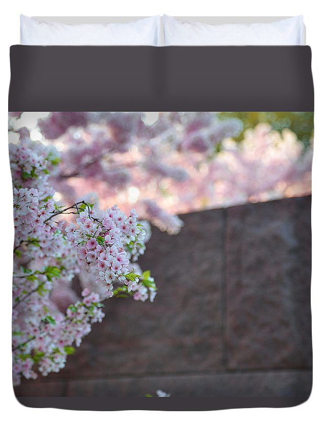 Architectural Duvet Cover featuring the photograph Cherry Blossoms 2013 - 066 by Metro DC Photography