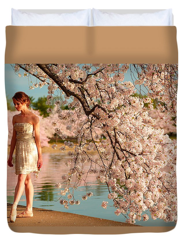 Architectural Duvet Cover featuring the photograph Cherry Blossoms 2013 - 079 by Metro DC Photography