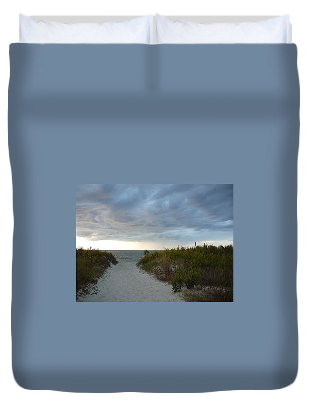 Chesapeake Bay Duvet Cover featuring the photograph Chesapeake Bay Storm by Two Bridges North