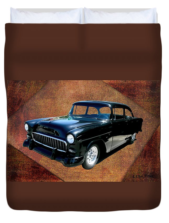 Chevrolet Duvet Cover featuring the photograph Chevy Car Art Nbr 459 by Lesa Fine