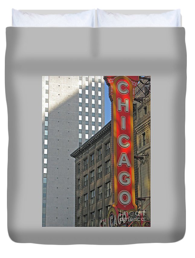 Chicago Duvet Cover featuring the photograph Chicago by Ann Horn