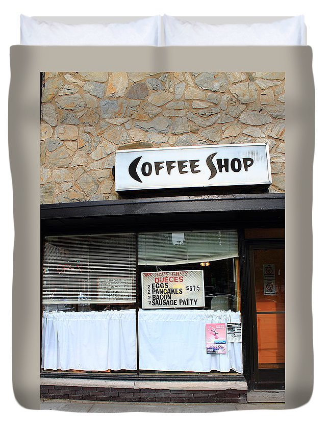 America Duvet Cover featuring the photograph Chicago Storefront 2 by Frank Romeo