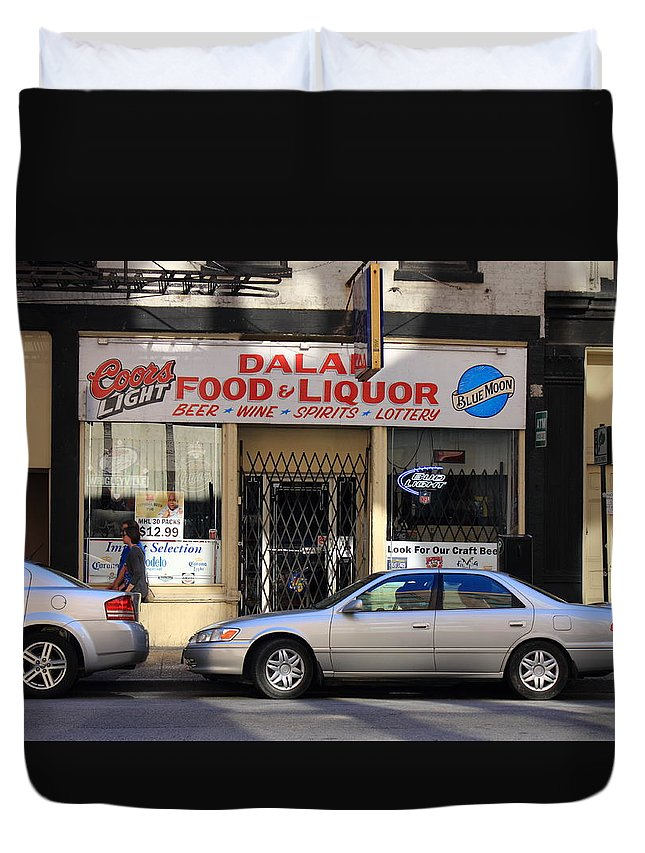 America Duvet Cover featuring the photograph Chicago Storefront 3 by Frank Romeo