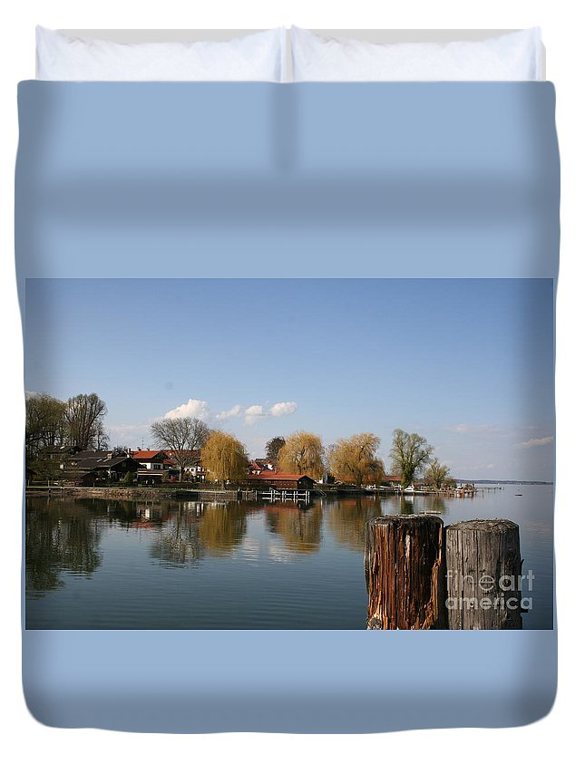 Lake Duvet Cover featuring the photograph Chiemsee - Germany by Christiane Schulze Art And Photography