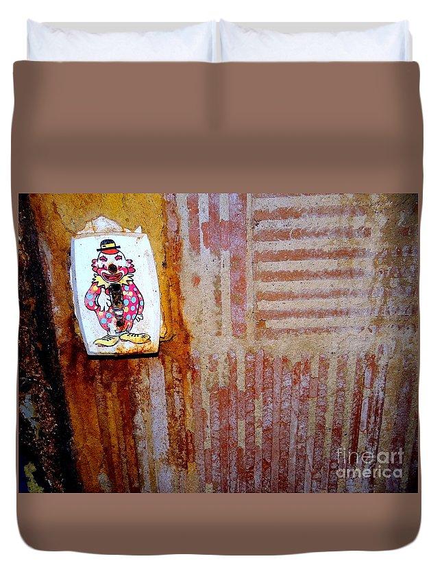 Abandoned Building Duvet Cover featuring the photograph Children's Ward Clown Light Switch by Ed Weidman