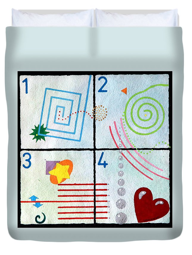 Children's Duvet Cover featuring the painting Child's Play by Thomas Gronowski