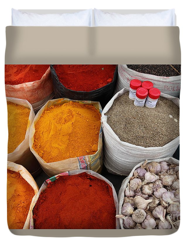 Chilli Duvet Cover featuring the photograph Chilli Powders 4 by James Brunker