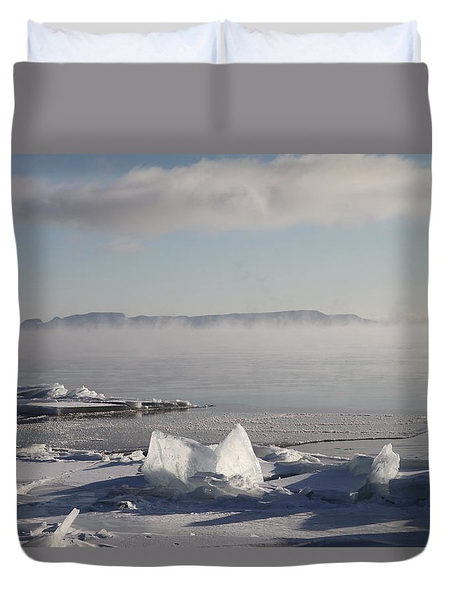 Sleeping Giant Duvet Cover featuring the photograph Chilly Giant by Chris Artist