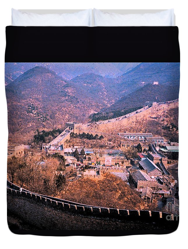 First Star Art Duvet Cover featuring the photograph China Great Wall Adventure By Jrr by First Star Art