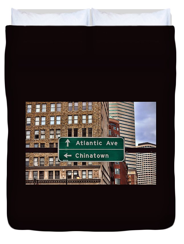 Chinatown Duvet Cover featuring the photograph Chinatown Boston by Jes Fritze