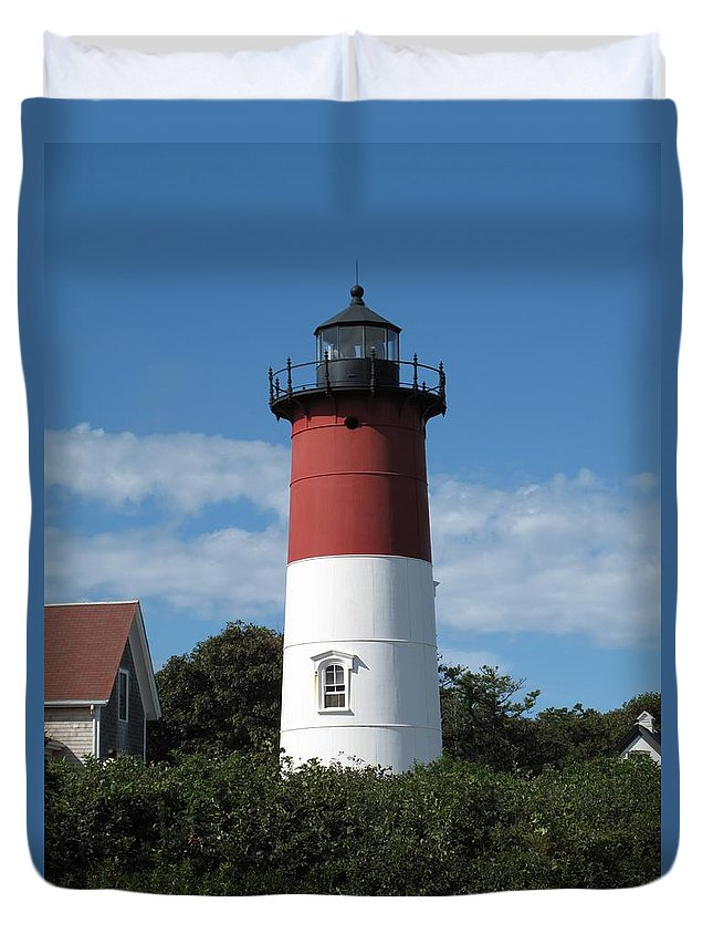 Nauset Duvet Cover featuring the photograph Chips Anyone by Barbara McDevitt
