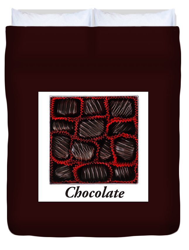 Baking Duvet Cover featuring the photograph Chocolate by Brandon Smith