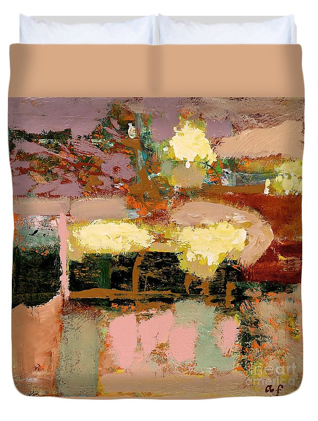 Landscape Duvet Cover featuring the painting Chopped Liver by Allan P Friedlander