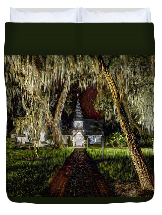 Christ Duvet Cover featuring the photograph Christ Church by Debra and Dave Vanderlaan