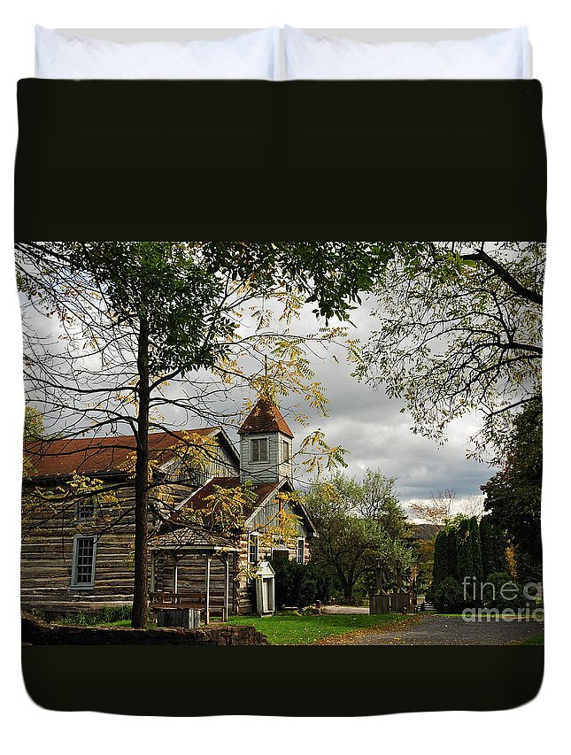 Church Duvet Cover featuring the photograph Christ Church by Lois Bryan