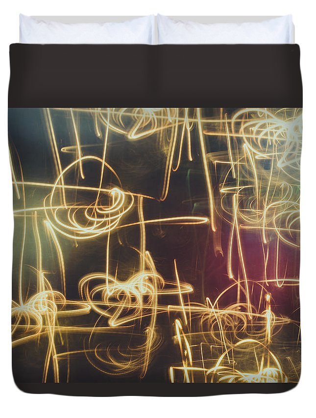 Abstract Duvet Cover featuring the photograph Christmas Abstract V by Marco Oliveira