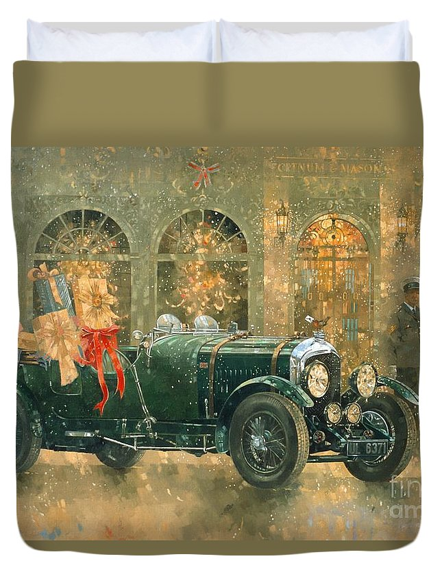 Shop Duvet Cover featuring the painting Christmas At Fortnum And Masons by Peter Miller