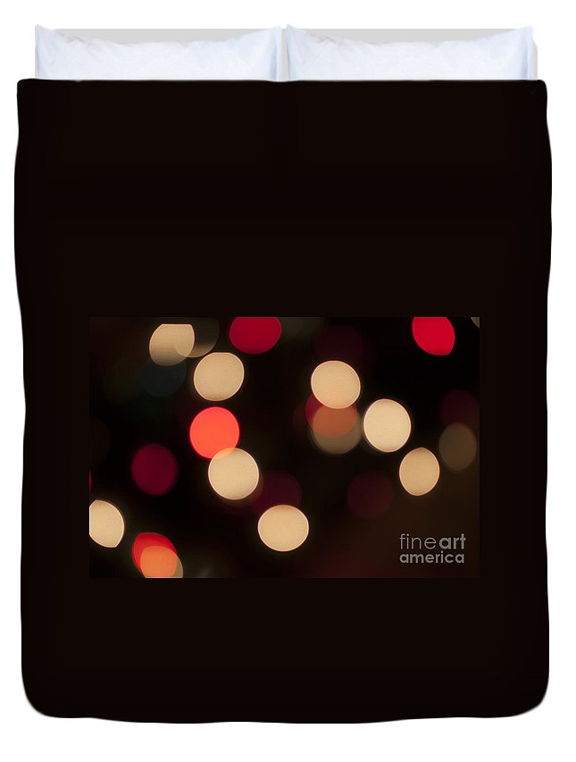 Celebrate Duvet Cover featuring the photograph Christmas Bokeh Lights by Juli Scalzi