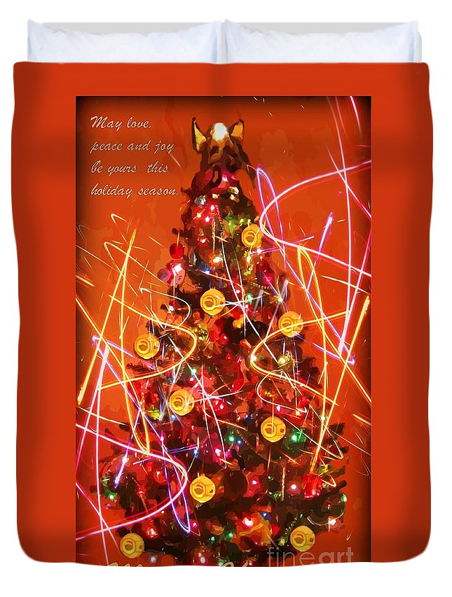 Christmas Art Print Duvet Cover featuring the photograph Christmas Card by John Malone