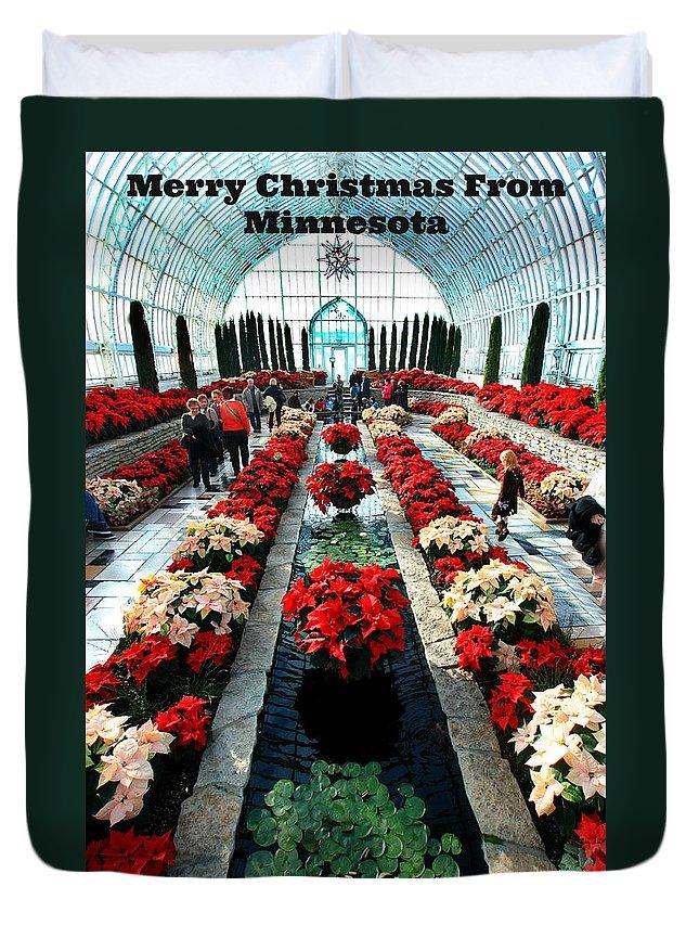 Sunken Garden Duvet Cover featuring the photograph Christmas Card Sunken Garden by Amanda Stadther