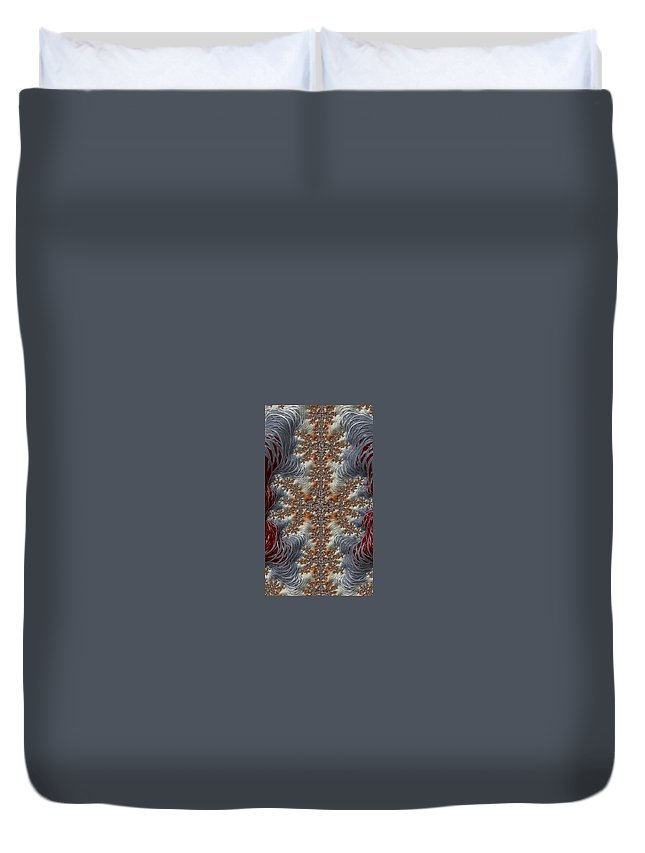 fractal Abstract christmas Cards holiday Cards holiday Gifts christmas Gifts Abstract abstract Photography Christmas Embroidery Duvet Cover featuring the photograph Christmas Embroidery - Phone Case And Cards by Bill Owen