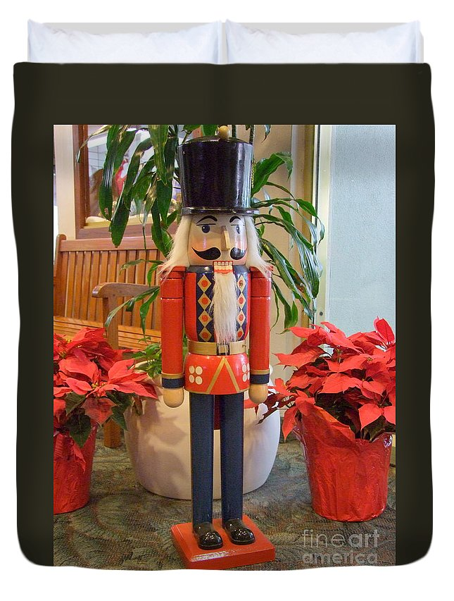 German Duvet Cover featuring the photograph Christmas Sentinel No 1 by Mary Deal