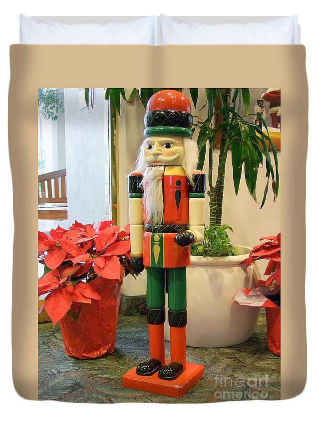 German Duvet Cover featuring the photograph Christmas Sentinel No 2 by Mary Deal