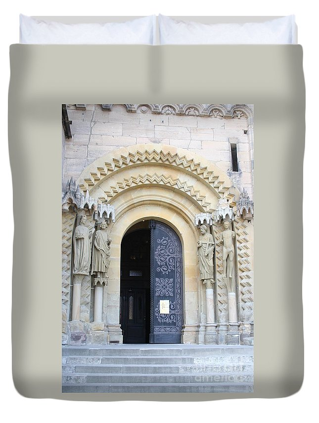 Church Duvet Cover featuring the photograph Church Door - Cathedral Bamberg - Germany by Christiane Schulze Art And Photography