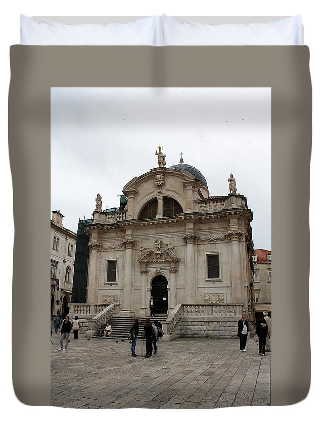 Dubrovnik Duvet Cover featuring the photograph Church Of St. Blasius by David Nicholls