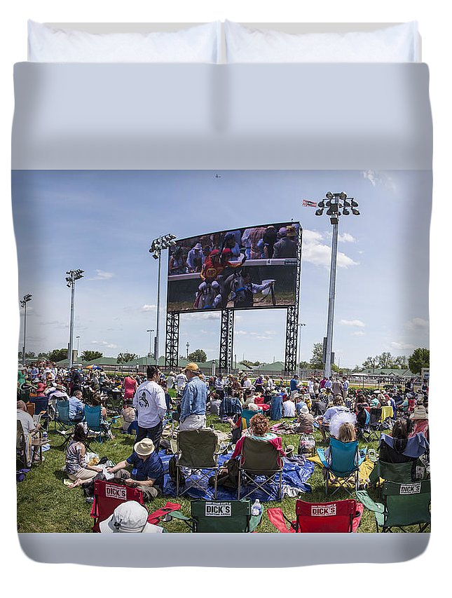 Kentucky Derby Duvet Cover featuring the photograph Churchill Downs Megatron by John McGraw