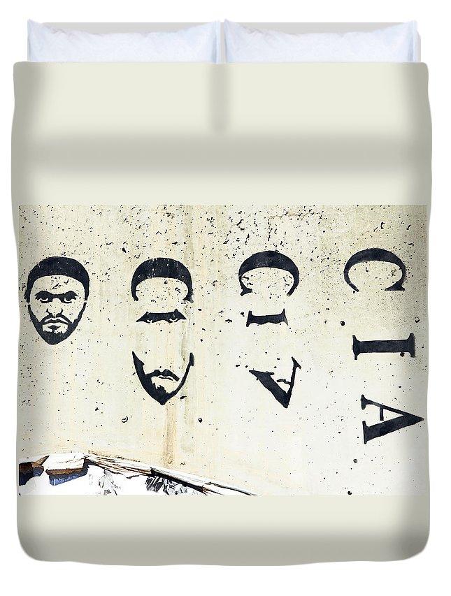 Cia Duvet Cover featuring the photograph CIA by Munir Alawi