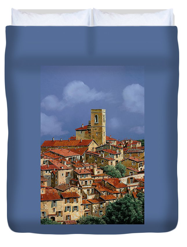 Clouds Duvet Cover featuring the painting Cielo A Pecorelle by Guido Borelli