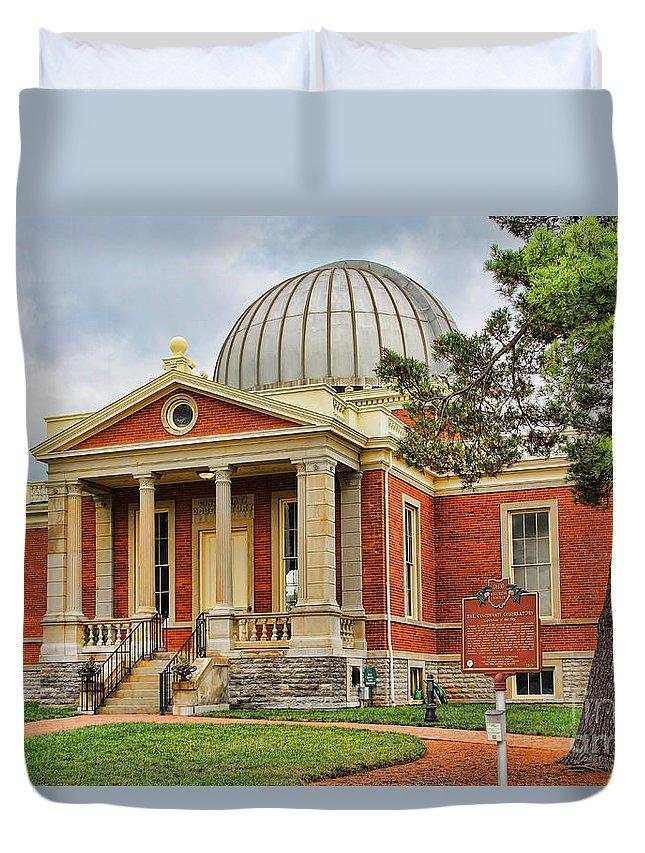 Cincinnati Observatory Duvet Cover featuring the photograph Cincinnati Observatory 0053 by Jack Schultz