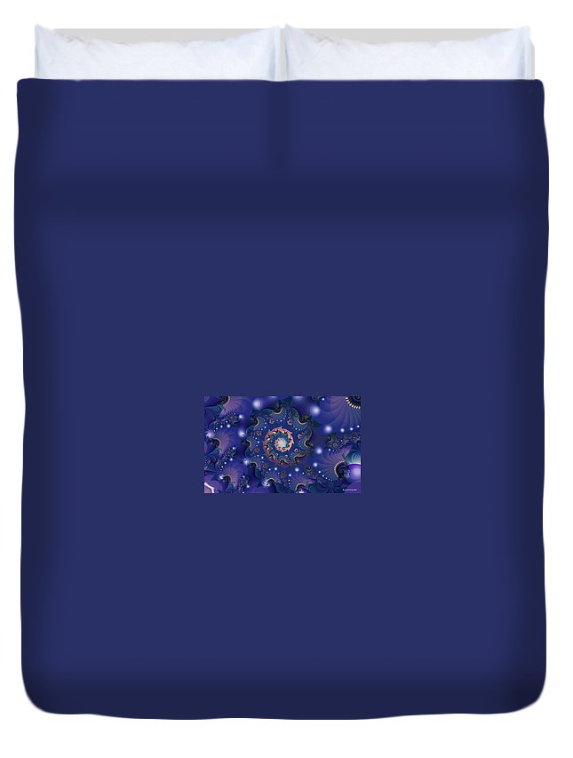 Fractal Duvet Cover featuring the digital art Cinderella Story by Richard Kelly