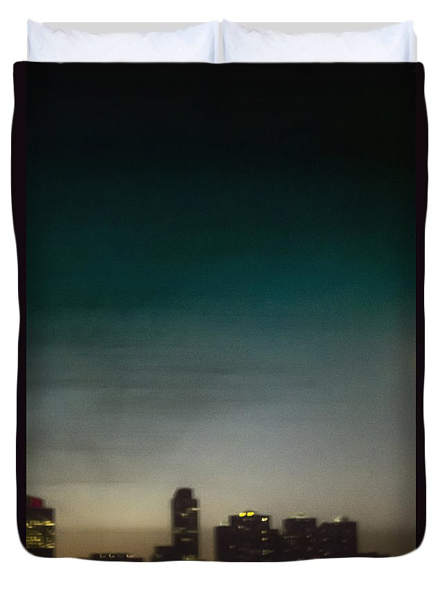Architecture Duvet Cover featuring the photograph City Abstract by Margie Hurwich