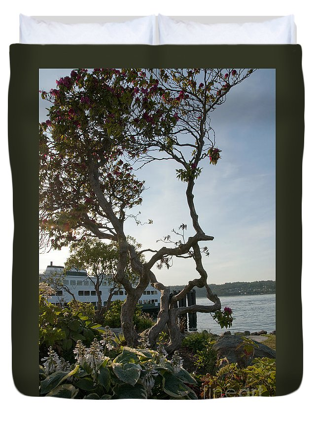 Bremerton Duvet Cover featuring the photograph City Of Bremerton Waterfront Park by Davina Parypa